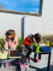 Natuurklas met speurtocht naar kriebeldiertjes in onze tuin